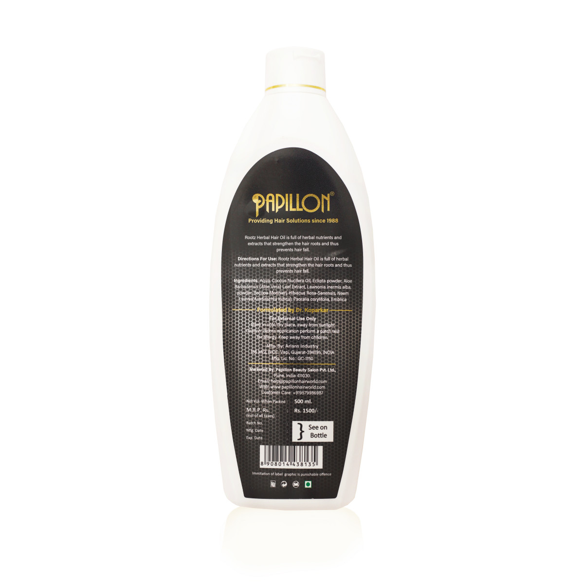 Rootz Heral Hair Oil - Large