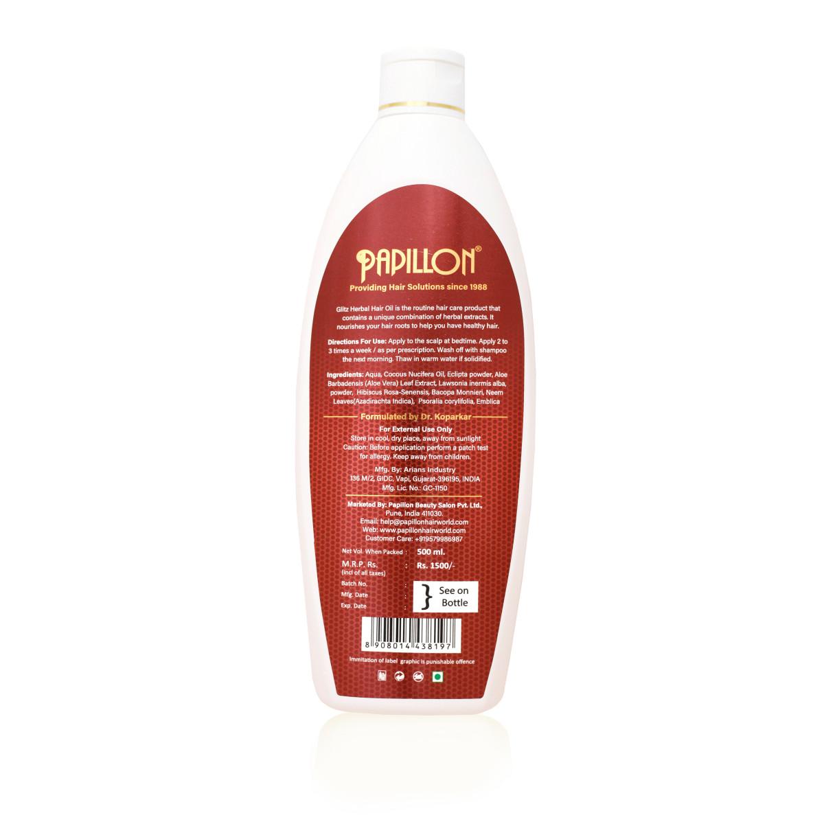 Glitz Herbal Hair Oil - Large